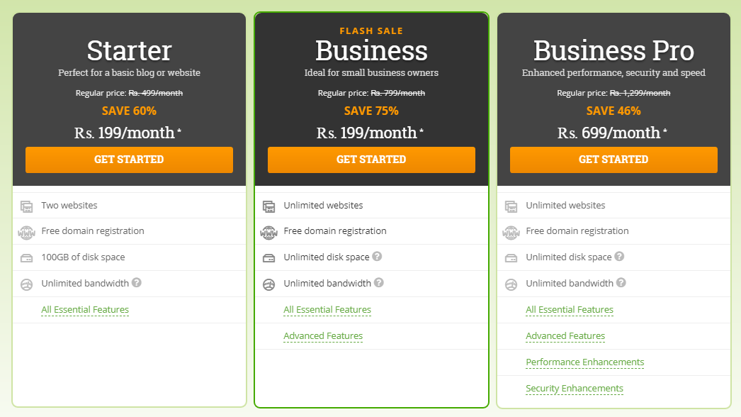 Hostpapa plan Top 3 Web Hosting Providers in India