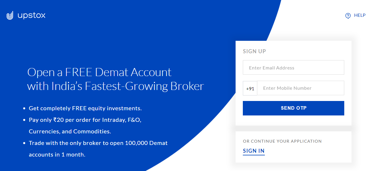 Upstox register Upstox Demat Account Open