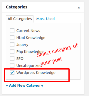 post category How to Create a WordPress Post