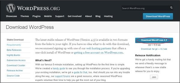 wp1 How To install wordpress